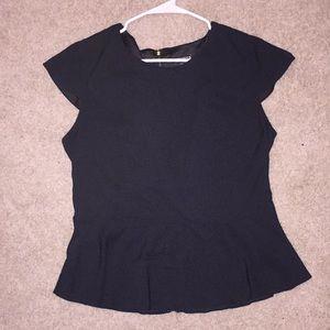 Express peplum cap sleeved dress shirt
